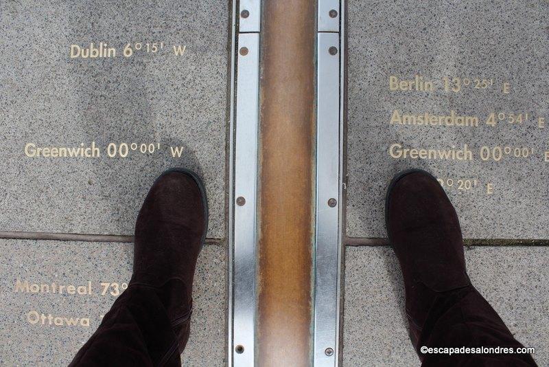 Le méridien de Greenwich au Royal Observatory of Greenwich