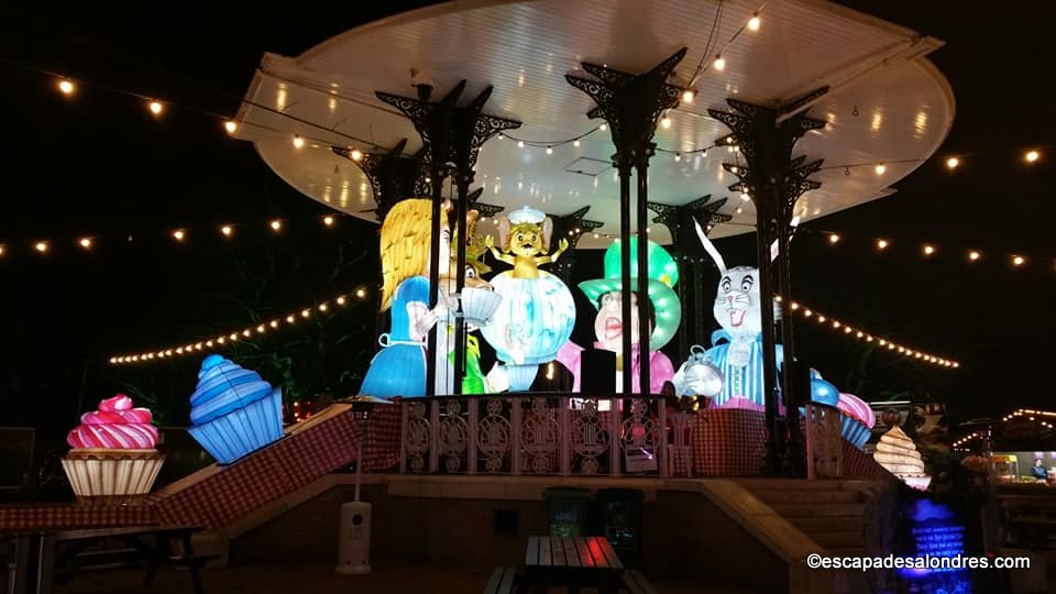 Alice in winterland lantern festival london