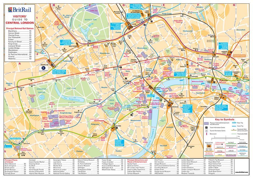 Plan Des Differents Quartiers Du Centre De Londres