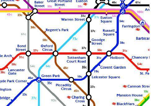 Calorie Map London
