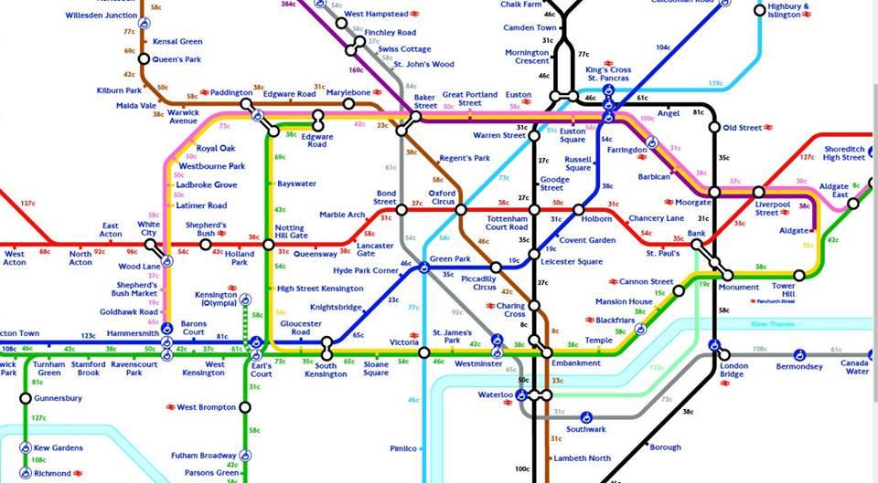 Calories walk London Tube