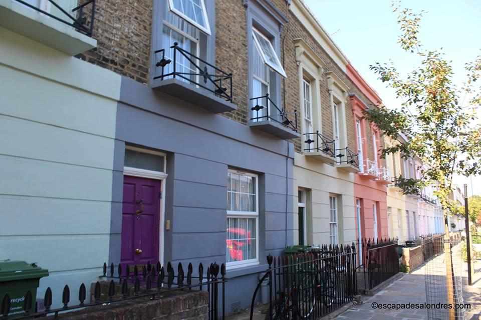 Camden town maisons colorées