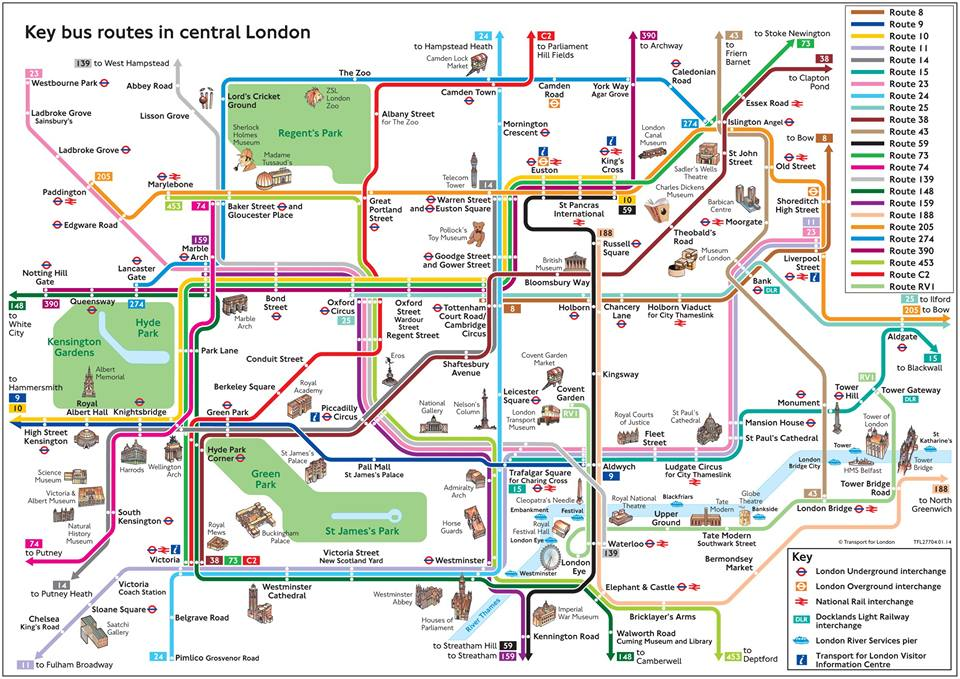 Plan des bus de Londres