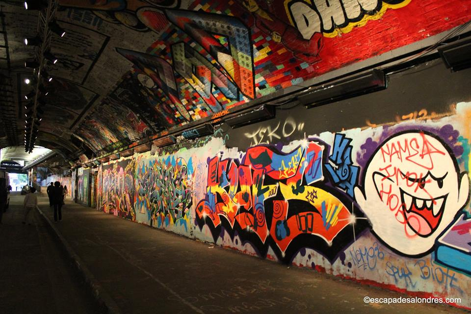 Leake street graffiti tunnel