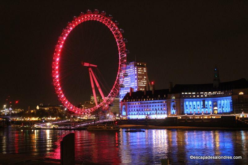 Voir Londres toute illuminée de nuit