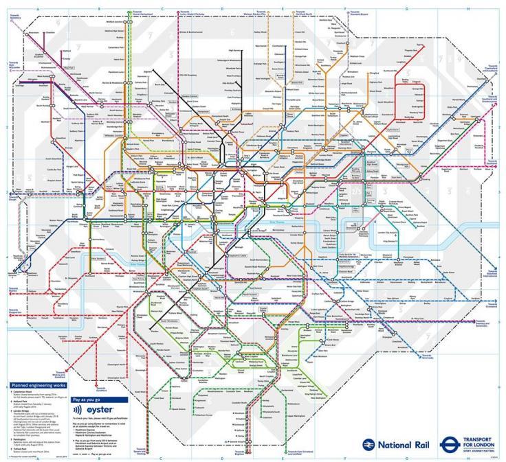 London Rail & tubes services