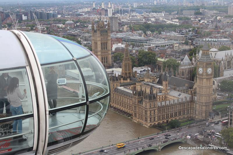 Embarquement pour le london eye for Tour de verre a londres