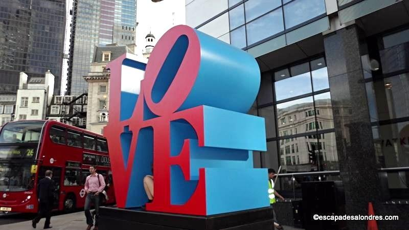 Love sculpture London