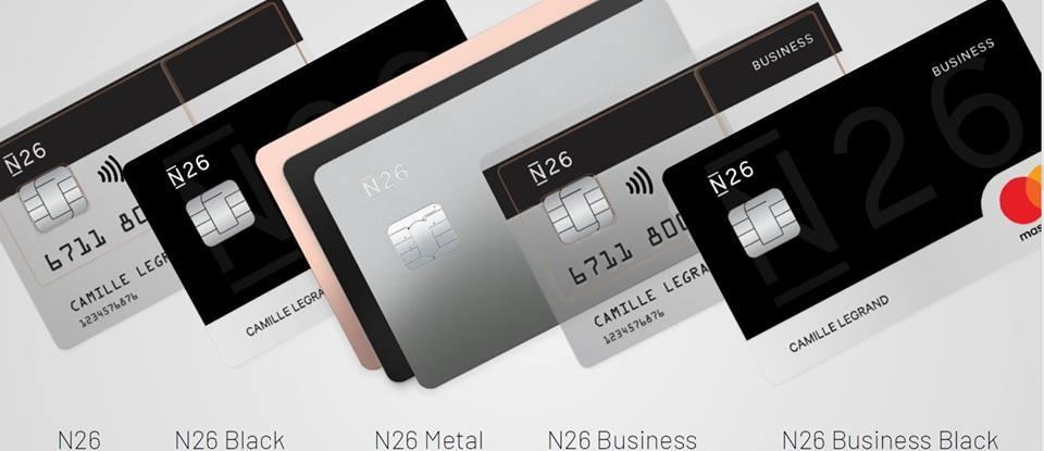 N26 differntes cartes