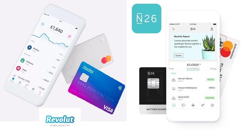 Revolut et N26 Cartes bancaires Multi-devises