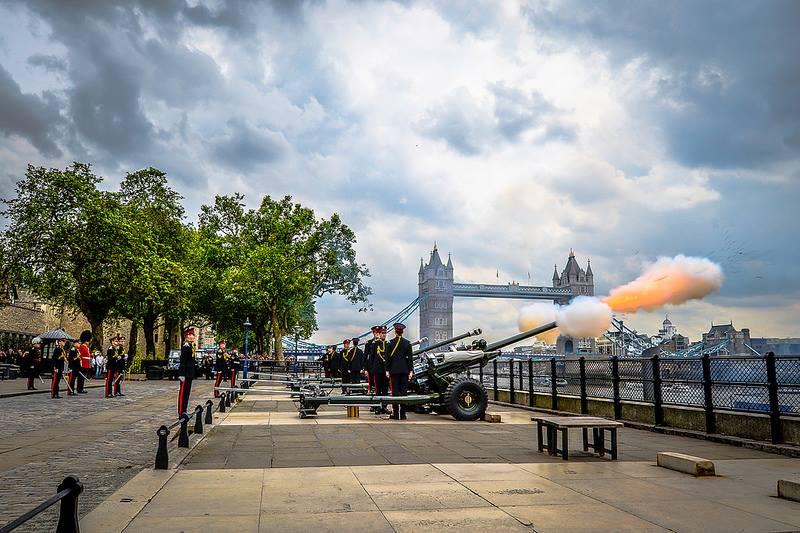 Les cérémonies du Royal Gun Salutes à Londres