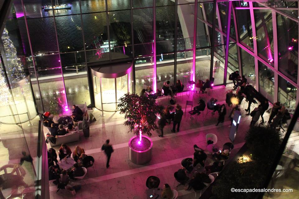 Sky garden by night