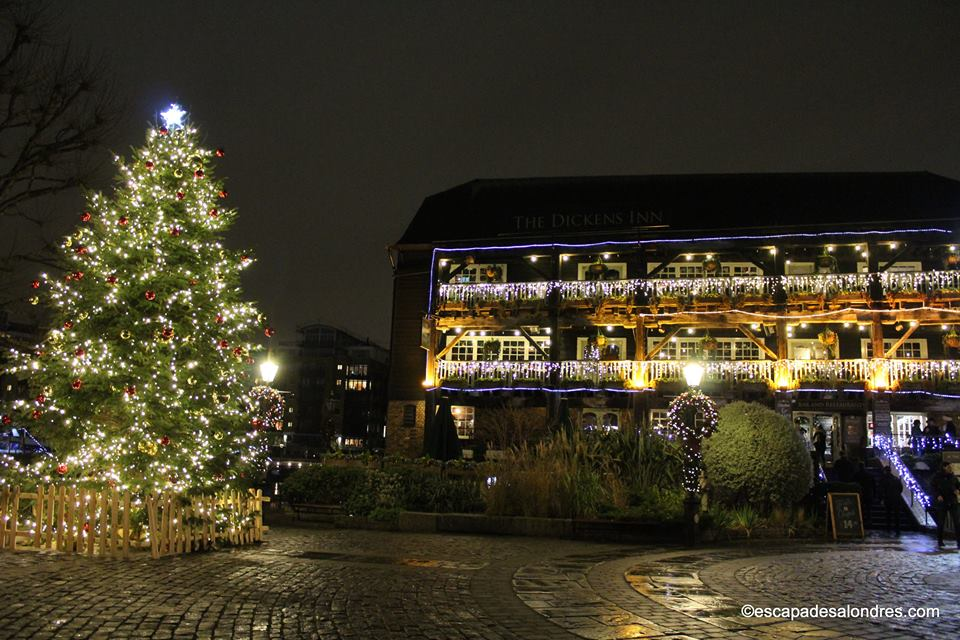 St katharine docks christmas tree