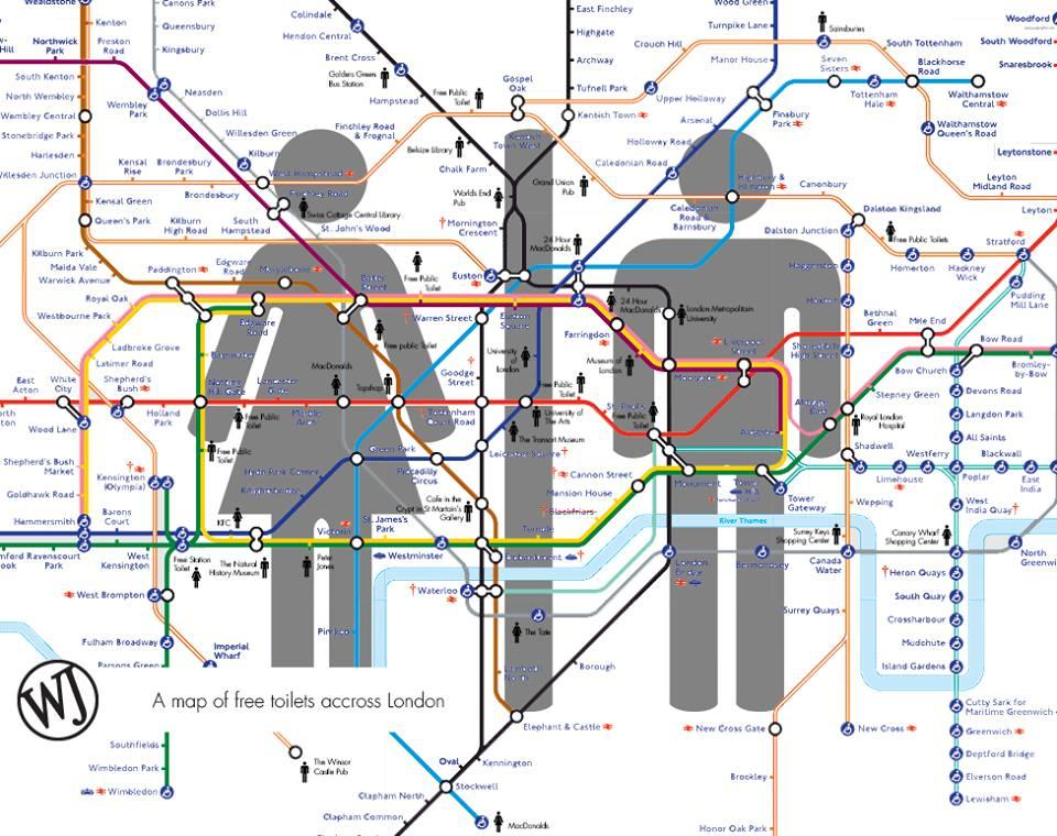 Toilets map free london n