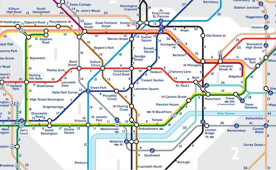 Walking London tube Map