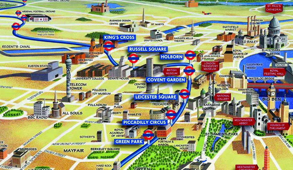©Tranport for London-Above Ground Map