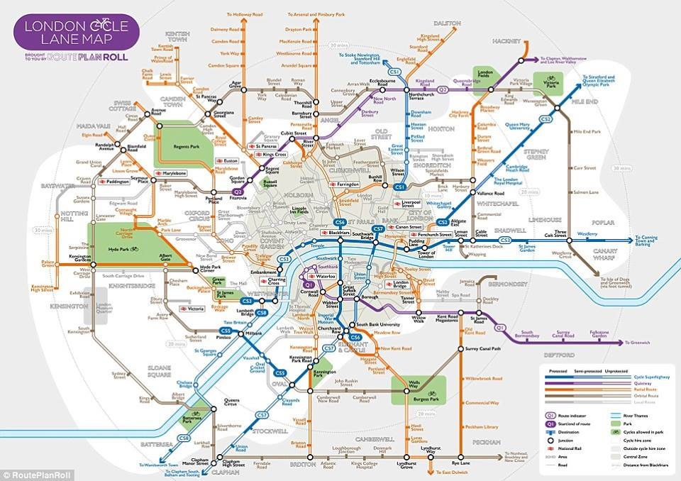 Cycle Map London