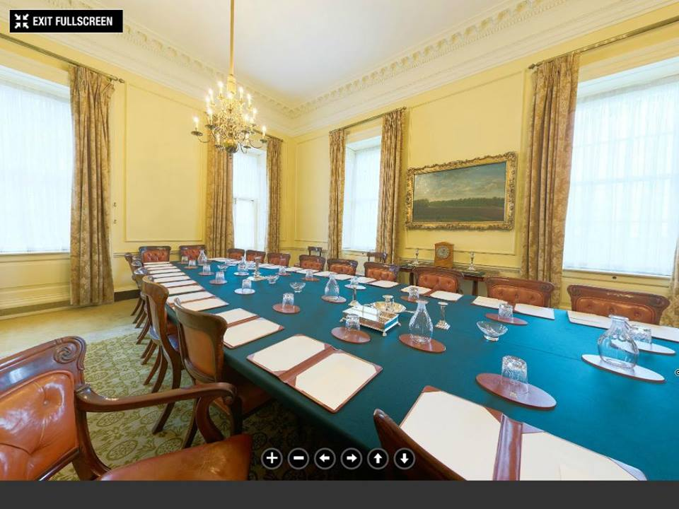 Downing street cabinet room©The Prime Minister's Office