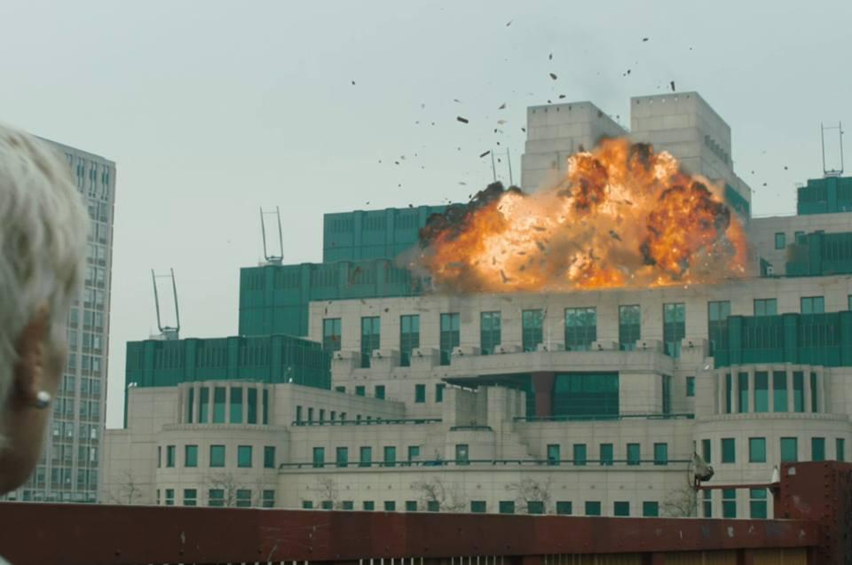 James Bond Mi6 explosion