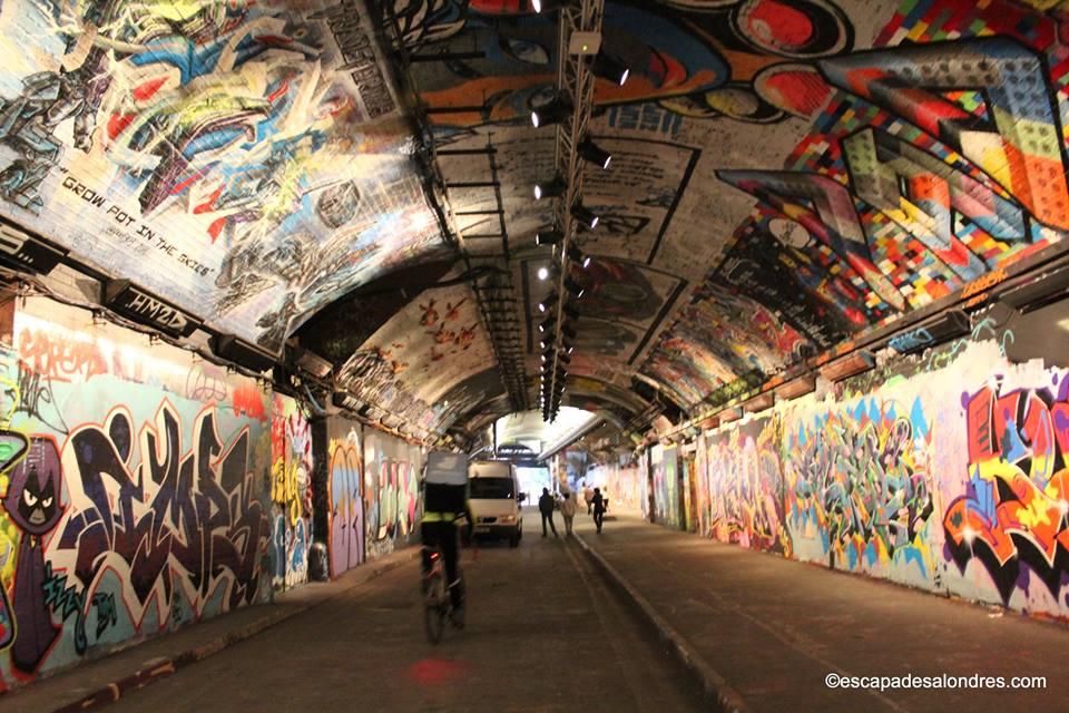 Leake street graffiti tunnel