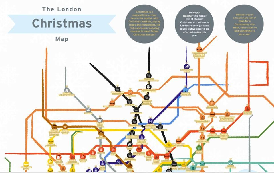 London christmas tube map©clarendonlondon