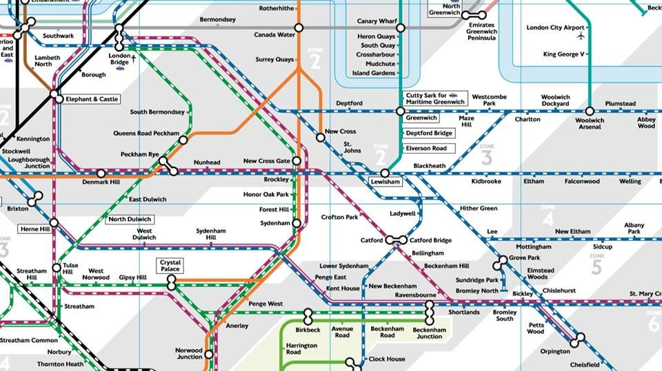 National Rail Map London