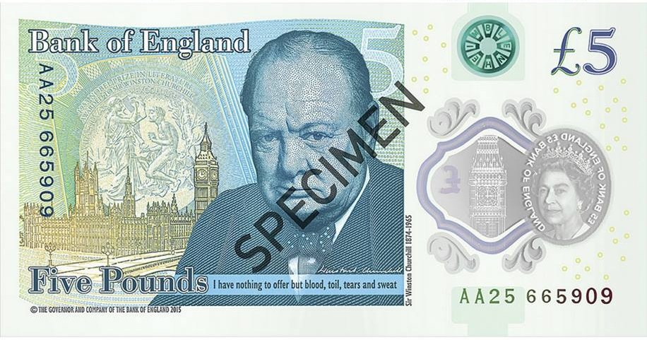 New Fiver©Bank of England