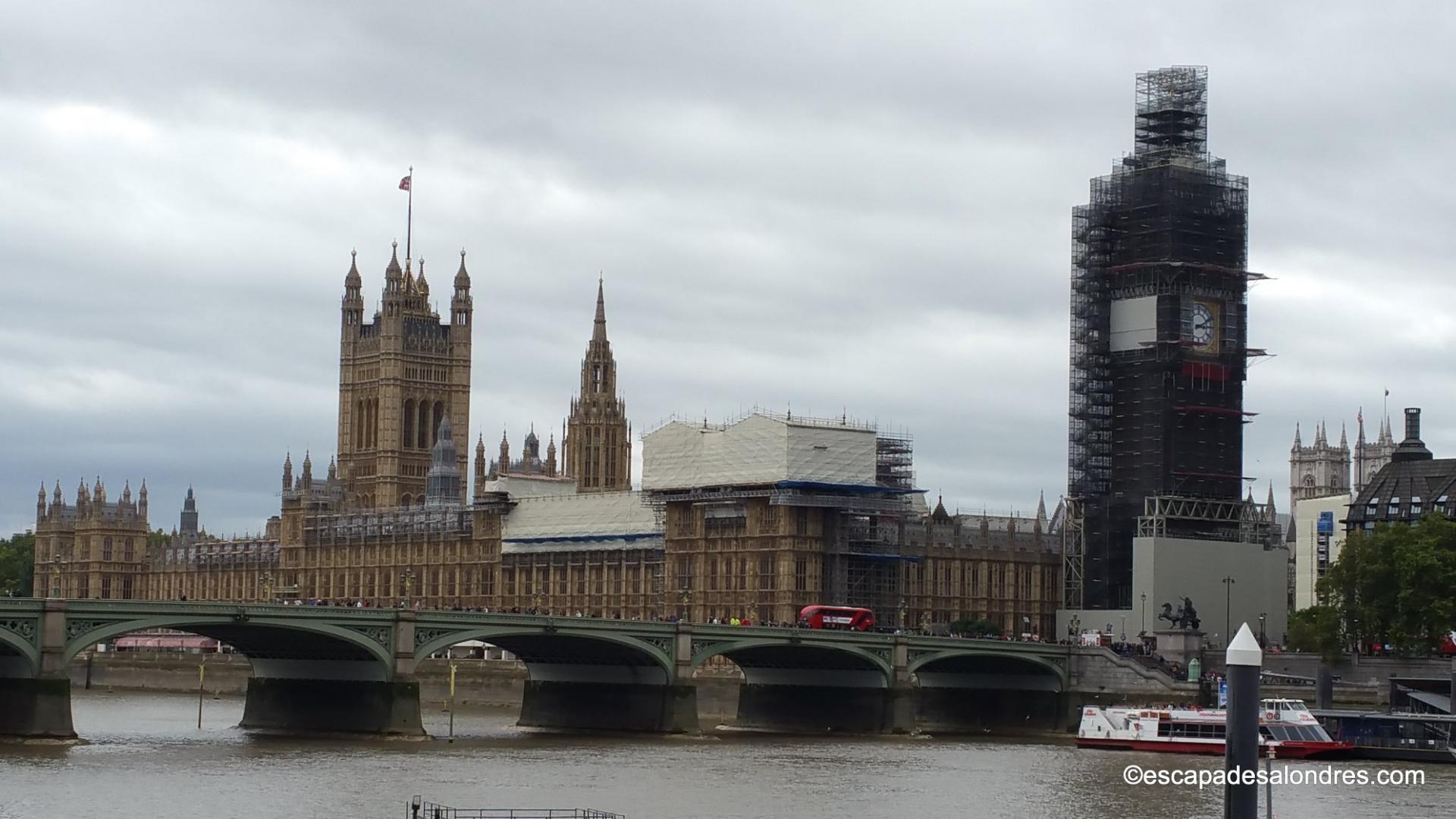 Speed boat sur la tamise à Londres