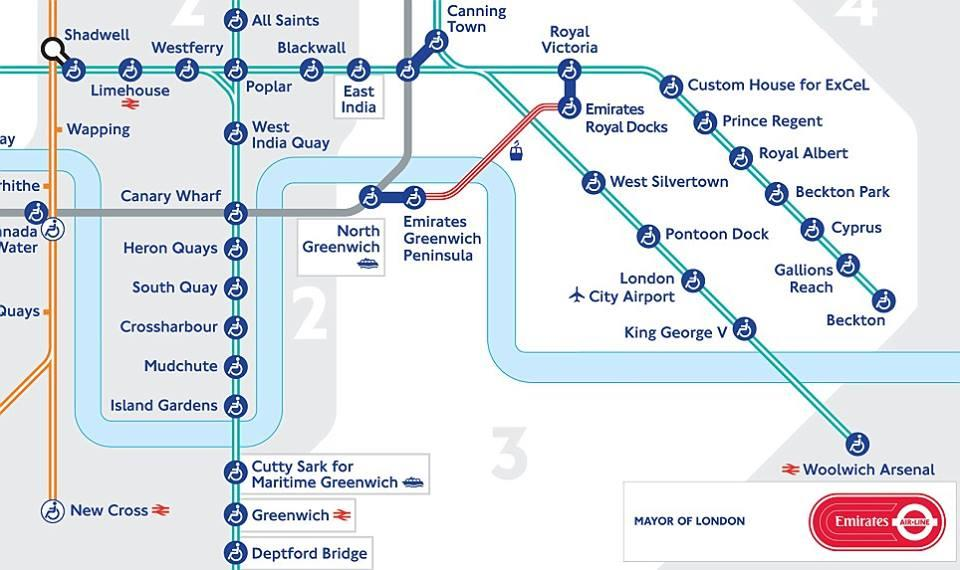 Tube Map Emirates Airline