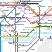 Tube map walking step