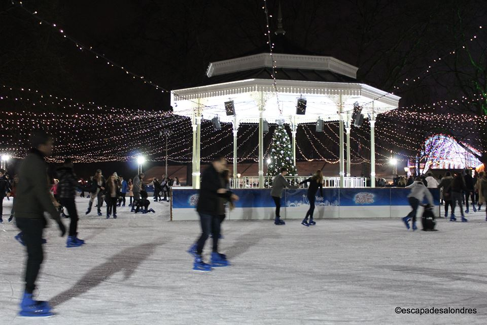 Winter wonderland ice rink